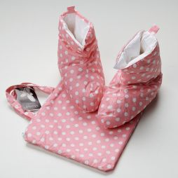 Down & Feather Boot Pink Spot