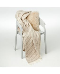 Alpaca Throw Crepe Brown