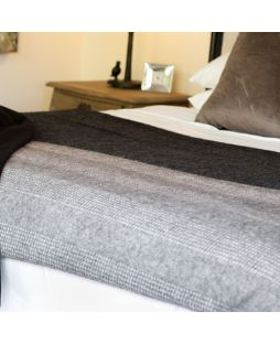 Alpaca Wool Blanket Combo Grey