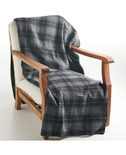 Wool Blanket Grey Check
