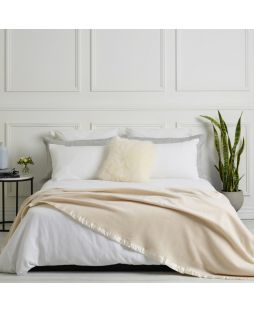 Merino Wool Blanket Cream