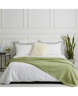 Essential Merino Wool Blanket Crisp Apple Green