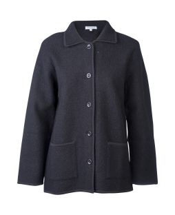 Ladies Boiled Wool Classic Jacket Black