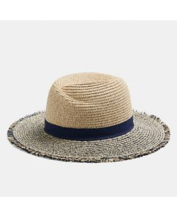 HAVANA SUMMER HAT- NATURAL/NAVY