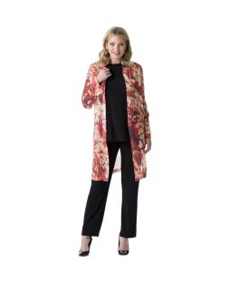 Siena Silk Open Jacket Tuscan Red