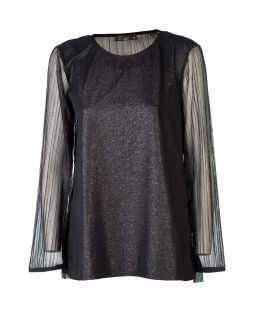 Shimmer Blouse Black