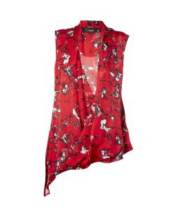 Silk Wrap Vest Moulin Rouge