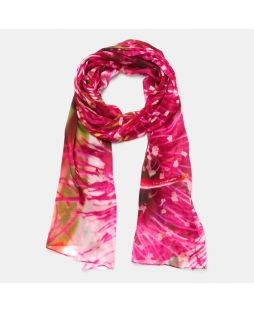 SCA79|100% SILK SCARF -FLOWERING GUM