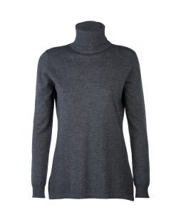 Wool Iconic Roll Neck Sweater Pewter