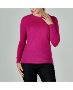 Merino Iconic Crew Neck Sweater Fuschia