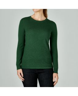 Merino Iconic Crew Sweater Green