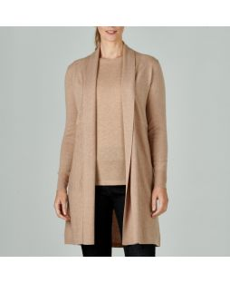 Merino Edge to Edge Cardigan Camel