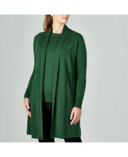 Merino Edge to Edge Cardigan Green