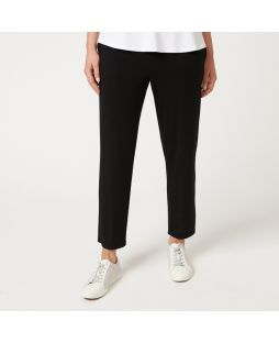 W637 BLA|Bamboo 7/8 Length Relaxed Pant - Black