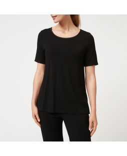 W703 BLA|Bamboo Short Sleeve T-Shirt - Black