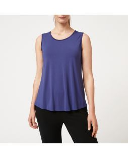 Bamboo Crew Neck Tank Top - Navy