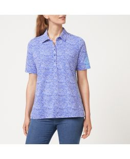 W715 BLP|Perfect Polo Top - Blue Print