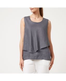 W830 ASH|Linen Layer Top - Ash