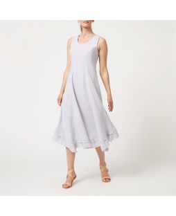 W831 GM|Linen Maxi Dress - Grey Marle