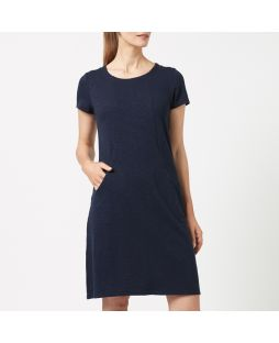 WD02 NAV| Cotton Jersey Dress - Navy