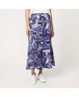 Viscose Maxi Skirt - Blue Print