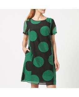 WD10 EMS|Tencel Blend Printed Dress - Emerald Spot