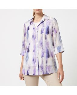 Cotton Silk Shirt - Watercolour Abstract