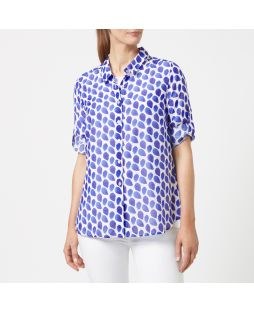 Cotton Silk Shirt - Blue Tear Drop