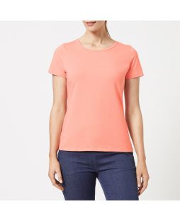 Cotton Elastane T-Shirt - Coral