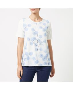 Embellished Crew Neck T-Shirt - Globe Thistle