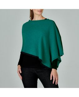 WT26 LLCST|LAMBY SPLIT PONCHO LAPIS / Light Charcoal