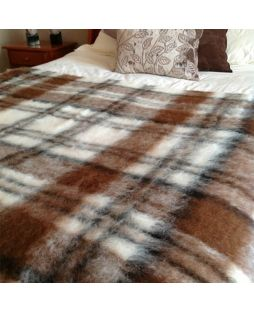 Alpaca Brushed Throw Apache