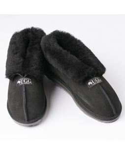 Australian Sheepskin Unisex Slippers - Black