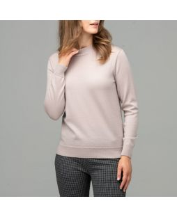 Merino Wool Mock Turtle Neck Pullover Camel