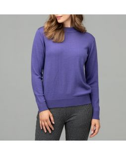 Merino Wool Classic Mock Turtle Neck Jumper Violet