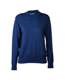 Merino Blumes Mock Turtle Pullover Midnight