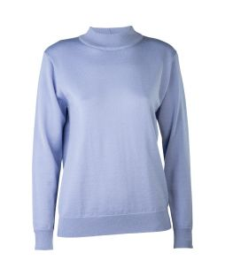 Merino Wool Classic Mock Turtle Neck Jumper Skye