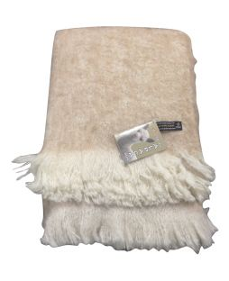 Alpaca Brushed Throw Sand