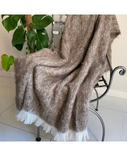 Alpaca Brushed Throw Pumice