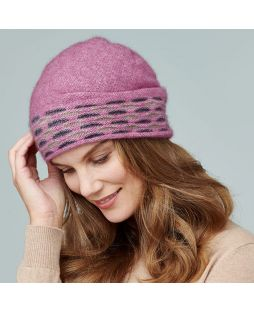 Possum Wave Trim Beanie Heather