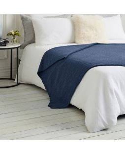 Brisbane Wool Blanket Denim