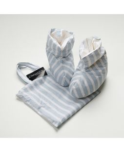 Childrens Down & Feather Boot Grey Stripe
