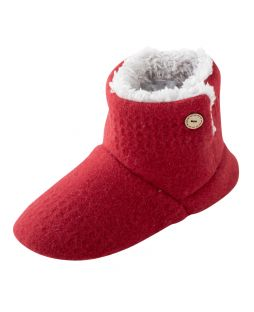 Alpaca Bootie Red Herringbone
