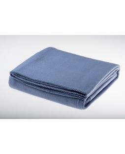 Fine Merino Wool Blanket Ice Blue