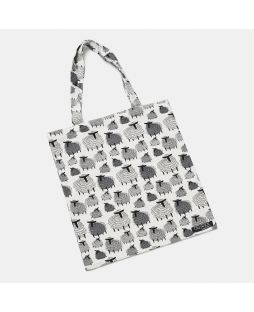COTTON BAG SHEEP PRINT STAND