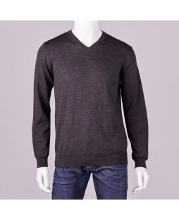 Ansett Merino Wool Vee Neck - Charcoal