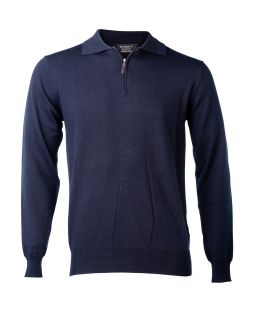 Ansett Merino Wool 1/2 Zip Navy