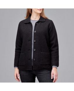 Boiled Wool Classic Jacket - Black