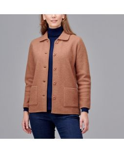 Boiled Wool Classic Jacket - Camel