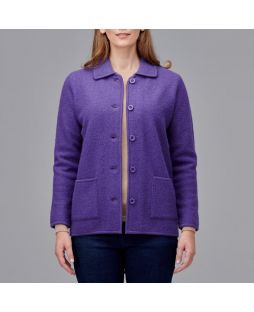 Boiled Wool Classic Jacket Mauve